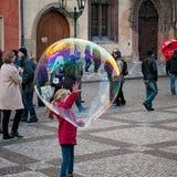 Burbuja de jabón grande Imagen de archivo