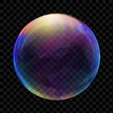 Burbuja de jabón realista Imágenes de archivo libres de regalías