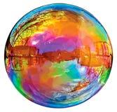 Burbuja de jabón reflectora. Imagen de archivo
