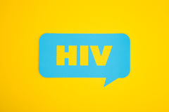 Burbuja de la cartulina del VIH Imagen de archivo