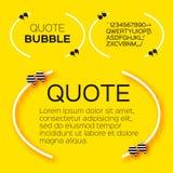 Burbuja de la cita Imagen de archivo libre de regalías