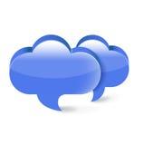 Burbuja de la comunicación de discurso dos aislada en blanco stock de ilustración