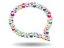 Burbuja de la comunicación Fotografía de archivo