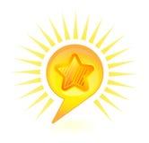 Burbuja de la estrella Fotos de archivo libres de regalías