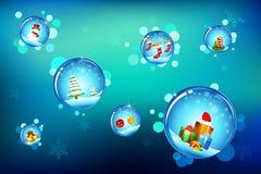 Burbuja de la Navidad Foto de archivo libre de regalías