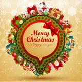 Burbuja de la vendimia de la Navidad. Foto de archivo libre de regalías