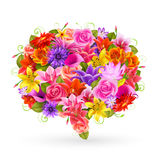 Burbuja de la venta del verano, flores coloridas. Imagenes de archivo