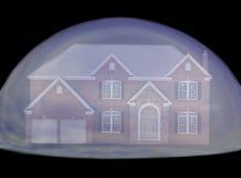 Burbuja de las propiedades inmobiliarias Fotos de archivo libres de regalías