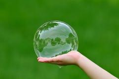 Burbuja de las propiedades inmobiliarias Fotografía de archivo