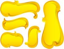 Burbuja de los marcos de escritura de la etiqueta Imagen de archivo libre de regalías