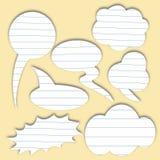 Burbuja de papel del discurso Foto de archivo libre de regalías