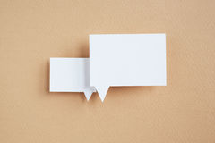 Burbuja de papel del discurso Fotos de archivo libres de regalías