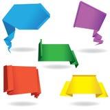 Burbuja de papel del discurso del origami Foto de archivo