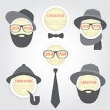 Burbuja decorativa del discurso de los hombres Imagen de archivo