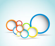 Burbuja del círculo del diseño de Web