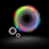 burbuja del color 3d Foto de archivo libre de regalías
