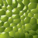 Burbuja del color verde con el fondo brillante del efecto libre illustration