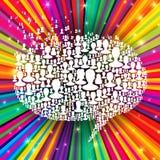 Burbuja del discurso Imagen de archivo libre de regalías