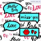 Burbuja del discurso del amor stock de ilustración