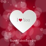 Burbuja del discurso. Backround del día de tarjeta del día de San Valentín Fotografía de archivo libre de regalías