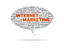 Burbuja del discurso - comercialización del Internet Foto de archivo
