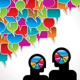 Burbuja del discurso con de dos mangos Foto de archivo libre de regalías