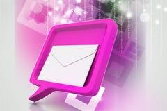 Burbuja del discurso con el correo Imagen de archivo libre de regalías