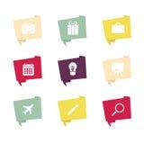 Burbuja del discurso con el icono Imagen de archivo libre de regalías