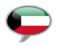 Burbuja del discurso de la bandera de Kuwait Foto de archivo