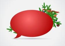 Burbuja del discurso de la Navidad Fotos de archivo libres de regalías