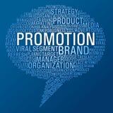 Burbuja del discurso de la promoción del márketing ilustración del vector