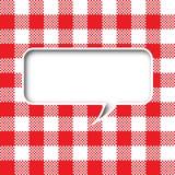 Burbuja del discurso de la textura del mantel Imagen de archivo libre de regalías