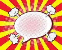 Burbuja del discurso del cómic ilustración del vector