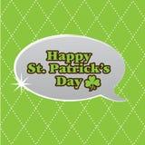 Burbuja del discurso del día del St. Patrick Fotos de archivo