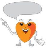 Burbuja del discurso del personaje de dibujos animados del corazón Imagenes de archivo