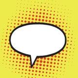 Burbuja del discurso en el estallido Art Comics Style Fondo retro del ejemplo ilustración del vector