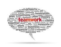 Burbuja del discurso - trabajo en equipo Imagen de archivo