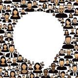 Burbuja del discurso y gente social Foto de archivo