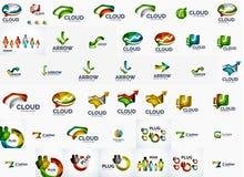 Burbuja del discurso y sistema del logotipo de las flechas Imágenes de archivo libres de regalías