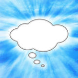 Burbuja del pensamiento Imagen de archivo libre de regalías