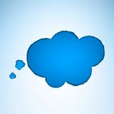 Burbuja del pensamiento de la historieta del vector Imagen de archivo libre de regalías