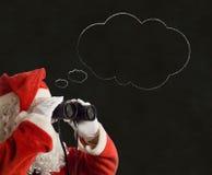 Burbuja del pensamiento de la idea de Christmas Business Strategy del padre Fotografía de archivo libre de regalías