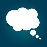 Burbuja del pensamiento en el fondo azul Diseño de Infographic stock de ilustración