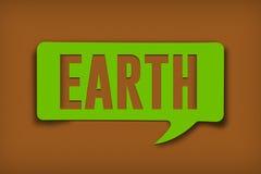 Burbuja del texto de la tierra imágenes de archivo libres de regalías