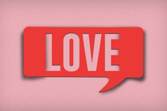 Burbuja del texto del amor imágenes de archivo libres de regalías