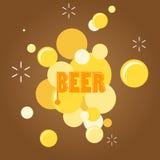 Burbuja del texto y de la cerveza Imagen de archivo
