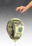 Burbuja económica fotografía de archivo