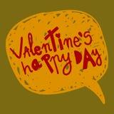 Burbuja feliz del discurso del día de tarjetas del día de San Valentín ilustración del vector