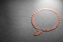 Burbuja financiera del discurso Imágenes de archivo libres de regalías