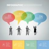 Burbuja infographic del discurso del diseño puede ser utilizado para la disposición del flujo de trabajo ilustración del vector